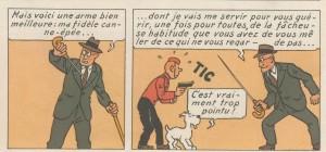 Canne épée Tintin en Amérique