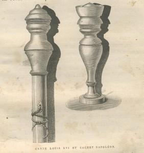 Pommeau de canne Louis XVI