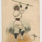 Femme bâtonniste