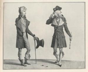 Incroyables fin 18e siècle