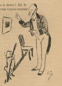 La canne et le chien de monsieur Clinelle