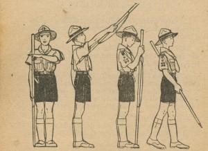 Salut au bâton scout