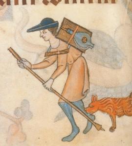 Bâton de marchand médiéval