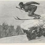 Skieur au bâton unique