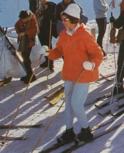 skieuse à deux bâtons