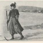 skieuse au bâton unique