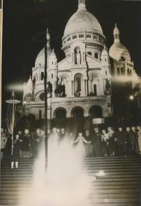 le feu de la Saint-Jean devant le Sacré-Coeur