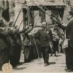 voûte de cannes de compagnons Tours 1951