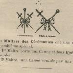 Insignes de maîtres des cérémonies maçonniques