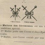 Insignes de matres des crmonies maonniques