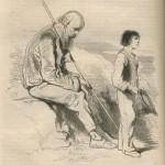 vieillard au bâton et jeune mendiant par Gavarni