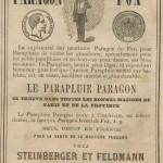 cannes et parapluies en 1862