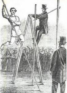 saut à la perche en 1861 en Angleterre