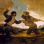 Duel au gourdin par Goya