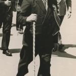 Le rouleur et sa canne à Tours en 1951