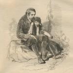 Le grand-père et l'enfant par Gavarni