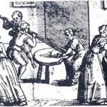 Ancien pétrissage du pain brie