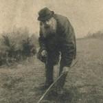 chasseur de vipères et son bâton fourchu