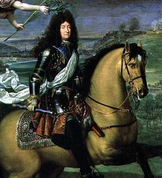 Louis XIV et son bâton de commandement