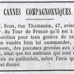 annonce Bron 1887