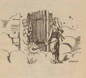 Le Breton et son Pen-bas devant saint Pierre