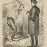 Le médecin et le paysan par Baric 1863