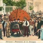 Procession de la Tarasque à Tarascon, carte postale