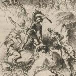 Combat au bâton du jeune Du Guesclin