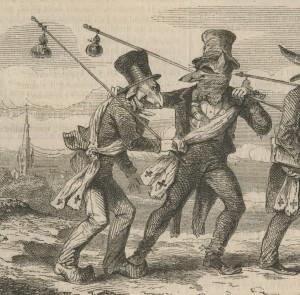 bâton à porter des gourdes