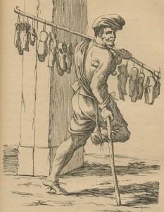 bâton à présenter des articles - savetier 17e siècle