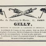 Publicité GELLY fabricant de parapluies et cannes