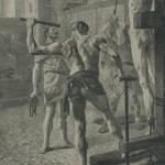 Détail J.P. Laurens Châtiment mérovingien