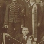 Soldat et compagnon maréchal-ferrant à Bordeaux St-Eloi d'hiver 1904