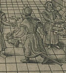 cheval-bâton - gravure du XVIe siècle