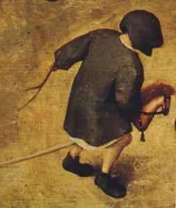 cheval-bâton par Bruegel - 1560