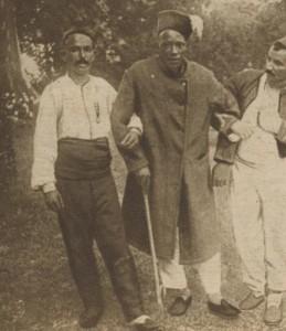 Soldat sénégalais blessé et sa canne - 1914