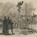 Equilibristes au bâton vertical au 16e siècle