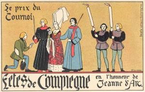 juges-diseurs remise du prix - carte postale Pinchon