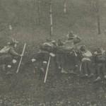 Exercices militaires de collégiens  anglais - 1909