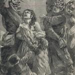 Soldats allemands battant une femme à coups de bâton
