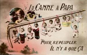 carte postale La canne à papa - 2