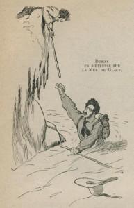 Alexandre Dumas sur la mer de Glace