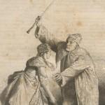 Argan voulant frapper Toinette avec son bâton