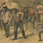 Course des coltineurs - Le Petit Journal 25-03-1893