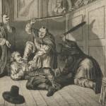 Hudibras battu par des lutins d'après Hogarth