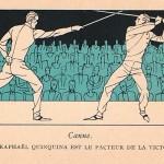 La canne publicité du St-Raphaël Quinquina aux  JO de 1924