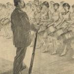 Répétition d'une revue en 1891