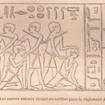 Le bâton pour faire payer l'impôt dans l'ancienne Egypte