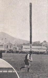 lancer du caber en 1910 -1