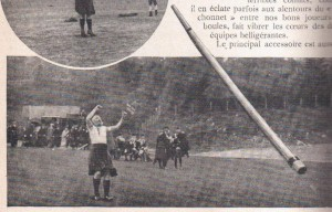 Lancer du caber en 1910 - 3